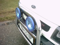 pushbar met 2 verstralers met led ring 7 inch ford transit